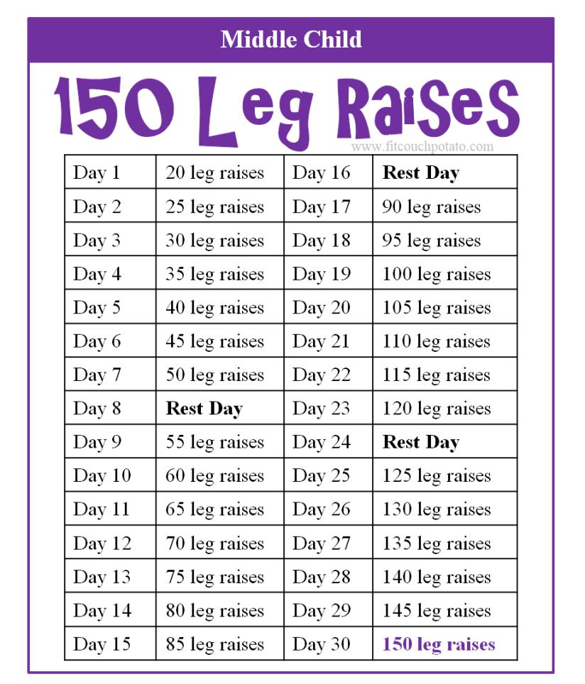 150 leg raises 2