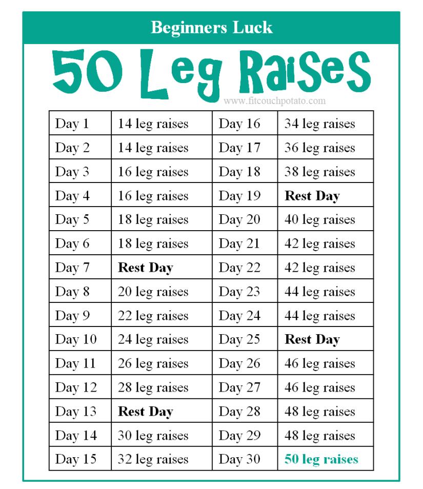 50 leg raises 1