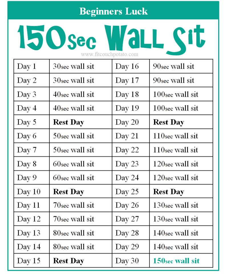 150sec wall sit 1