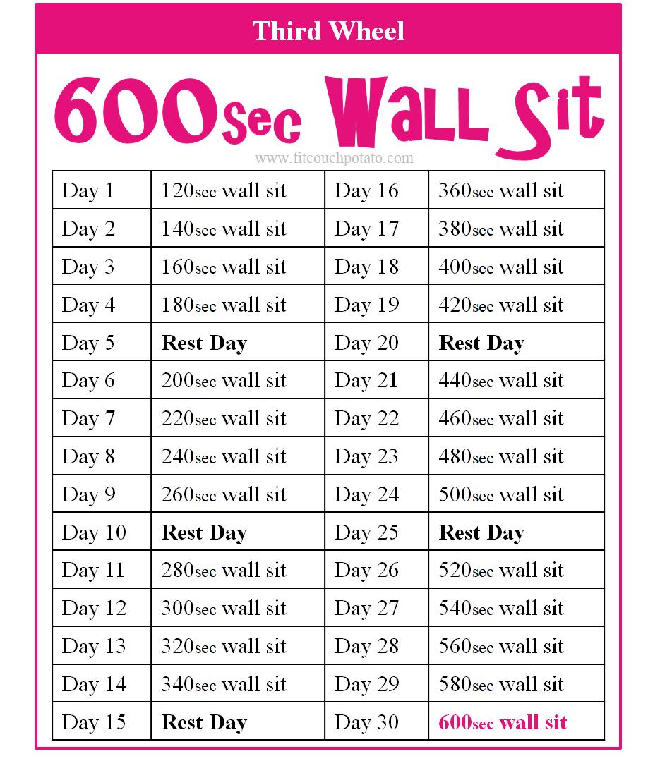 600sec wall sit 3