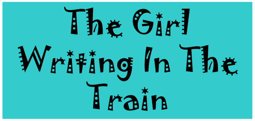 the girl writing in the train heading